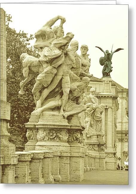 Ponte Vittorio Emanuele II Rome Greeting Card by JAMART Photography