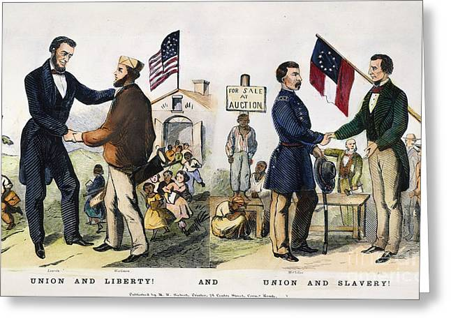 Presidential Campaign, 1864 Greeting Card by Granger