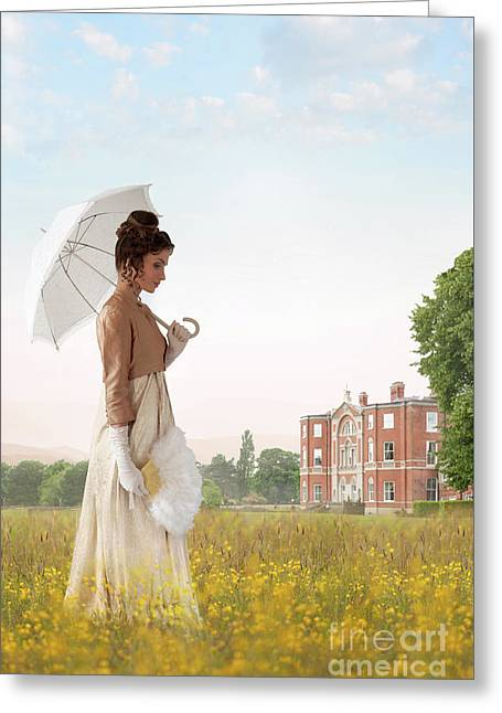 Regency Woman Greeting Card