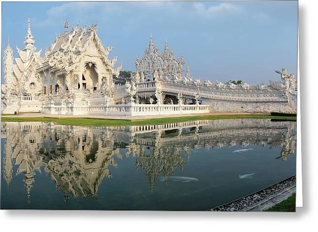 Rong Khun Temple Greeting Card by Anek Suwannaphoom