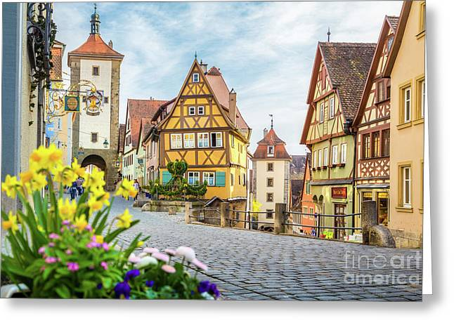 Rothenburg Ob Der Tauber Greeting Card by JR Photography