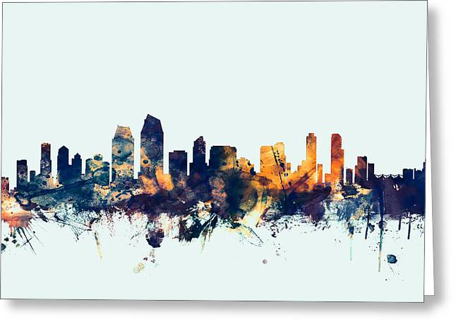 San Diego California Skyline Greeting Card