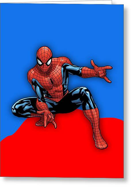 Spiderman Collection Greeting Card by Marvin Blaine