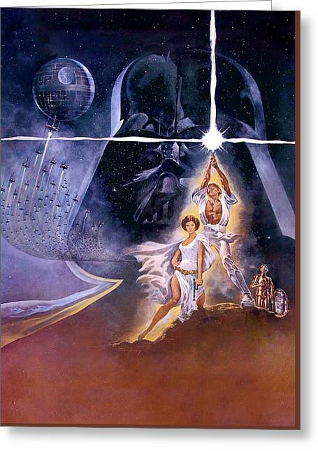 Star Wars Episode Iv - A New Hope 1977 Greeting Card
