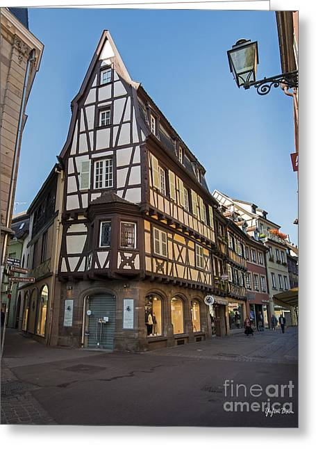 Streets Of Colmar Greeting Card by Yefim Bam