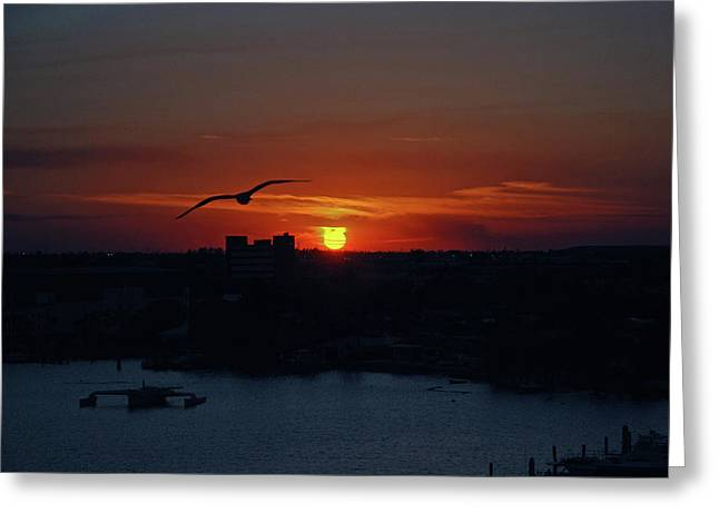 Greeting Card featuring the photograph 6- Sunset by Joseph Keane