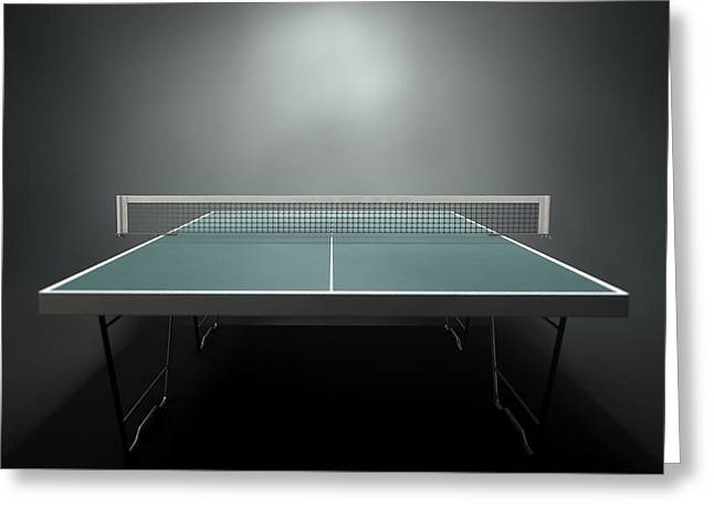 Table Tennis Table Greeting Card