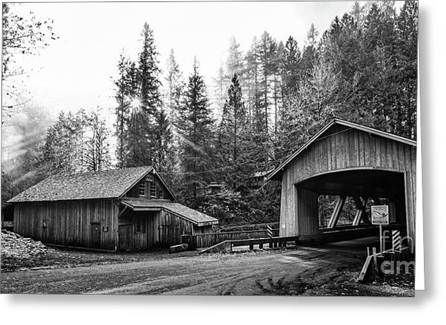 The Cedar Creek Grist Mill In Washington State. Greeting Card