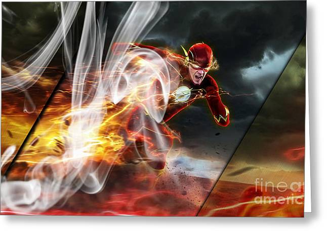 The Flash Collection Greeting Card