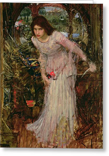 The Lady Of Shalott Greeting Card by John William Waterhouse