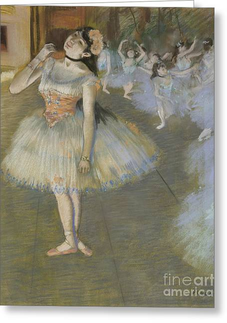 The Star Greeting Card by Edgar Degas