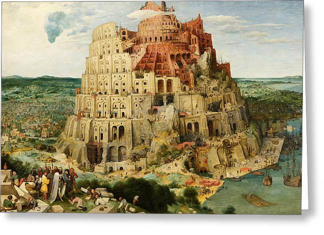 The Tower Of Babel  Greeting Card