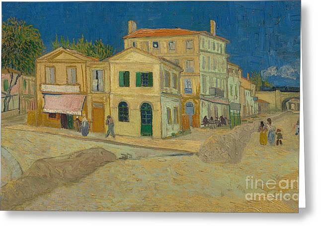 The Yellow House Greeting Card by Vincent Van Gogh