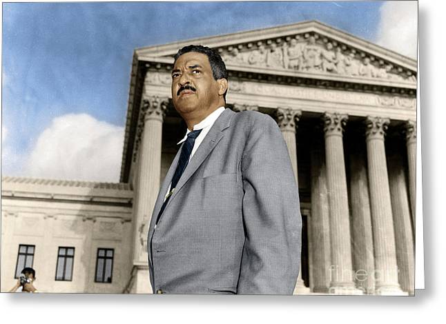 Greeting Card featuring the photograph Thurgood Marshall by Granger