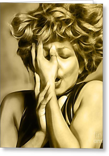 Tina Turner Collection Greeting Card by Marvin Blaine