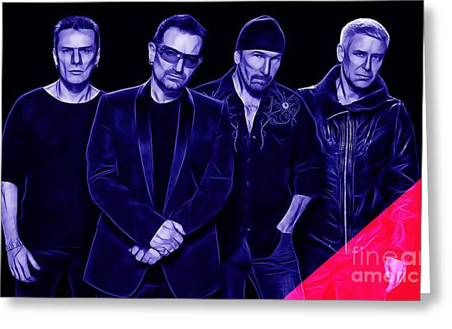 U2 Collection Greeting Card by Marvin Blaine