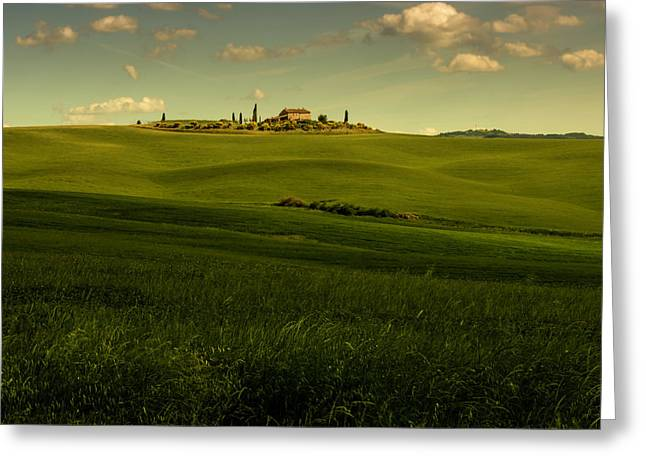 Val D'orcia Landscape Greeting Card