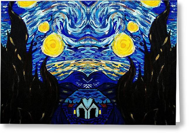 Van Gogh Starry Night Greeting Card by Scott D Van Osdol