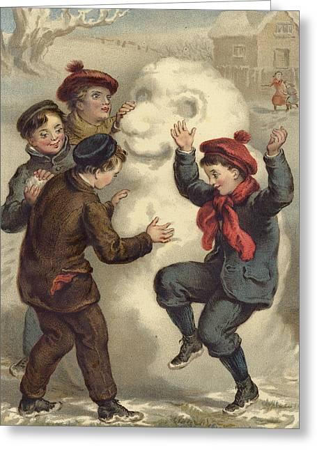 Vintage Christmas Card Greeting Card by English School
