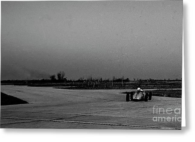 Vintage Racing Car European Gp Greeting Card by Jim Kayalar