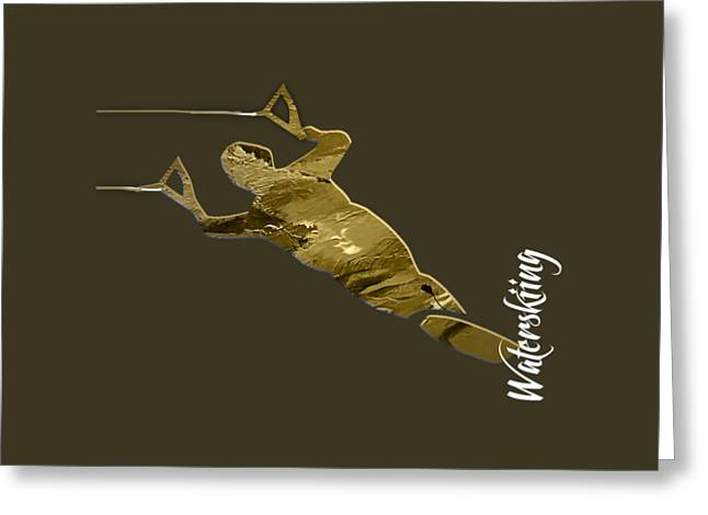 Waterski Collection Greeting Card
