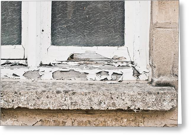Window Frame Greeting Card by Tom Gowanlock