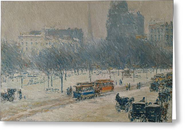 Winter In Union Square Greeting Card