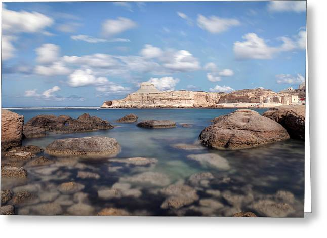 Xwejni Bay - Gozo Greeting Card by Joana Kruse