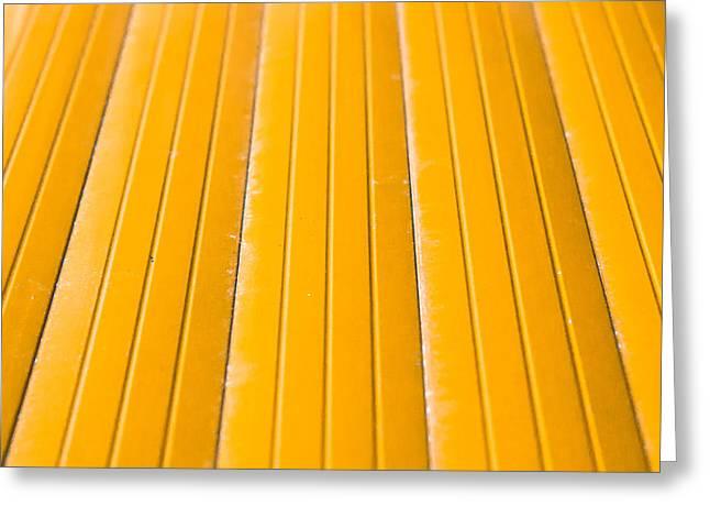 Yellow Metal Greeting Card
