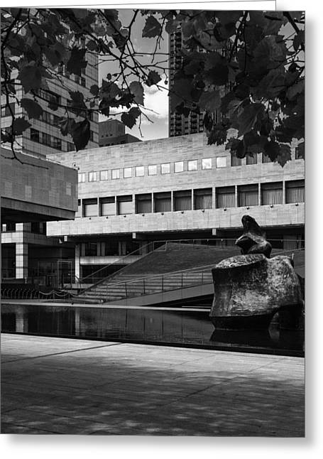 60 Lincoln Center Plaza, New York - Juliard School Greeting Card by S R Shilling