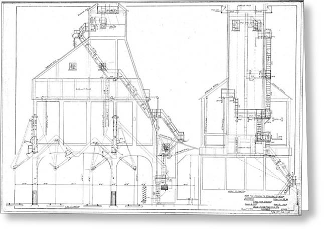 600 Ton Coaling Tower Plans Greeting Card