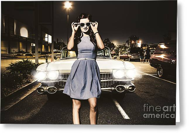 60s American Car Culture Greeting Card by Jorgo Photography - Wall Art Gallery