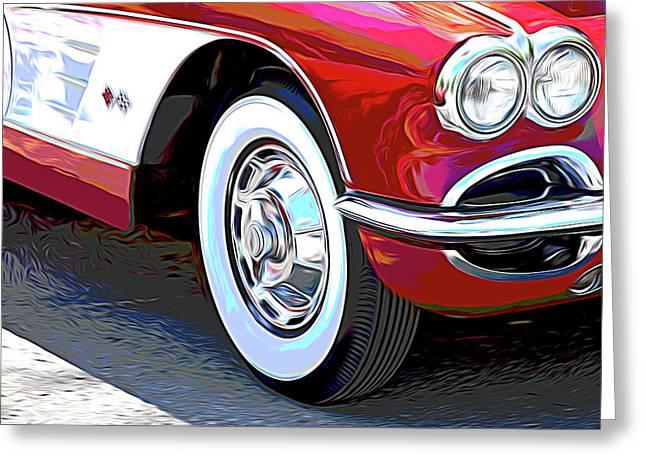 61 Corvette Greeting Card