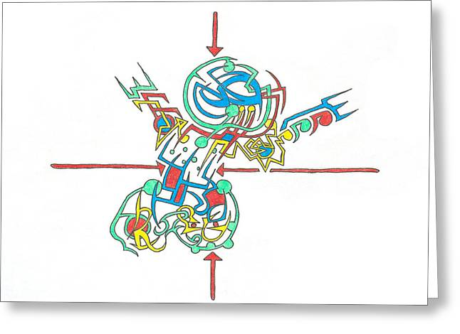Electricity Greeting Card by Scott Soucy