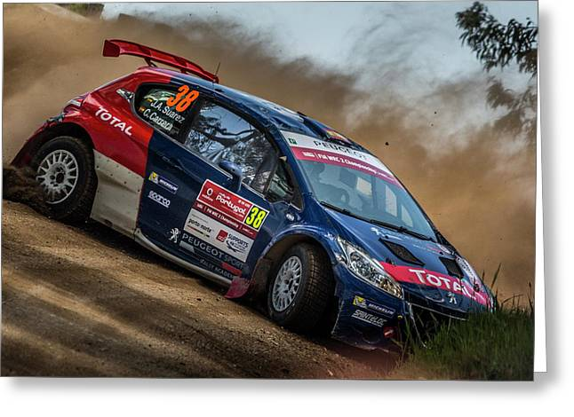 Wrc Rally Portugal 2016 Greeting Card by Ernesto Santos