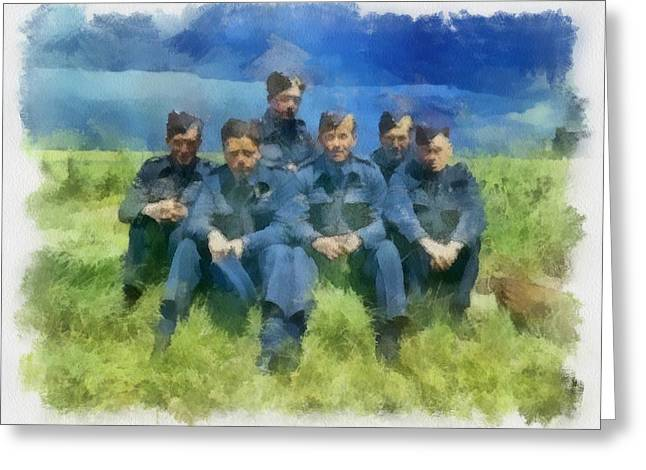 617 Squadron The_dambusters At Raf Scampton 1943 Greeting Card by Esoterica Art Agency