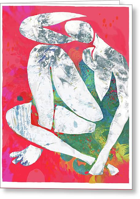 Nude Pop Stylised Art Poster Greeting Card by Kim Wang