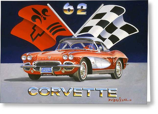 62 Vette Greeting Card