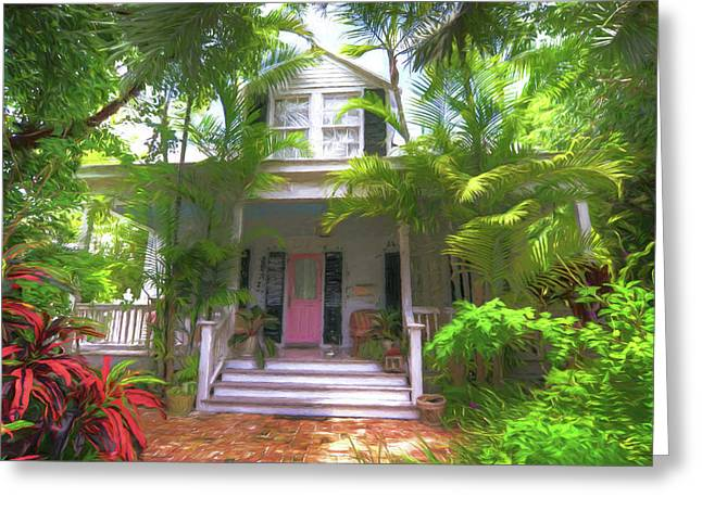620 Elizabeth Street - Key West Florida Greeting Card by John Adams