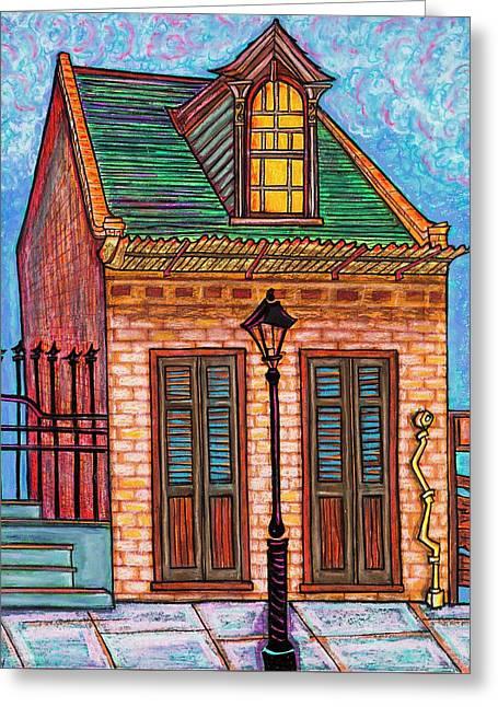 629 Burgundy Street Greeting Card