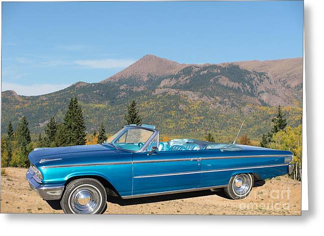 63 Ford Convertible Greeting Card