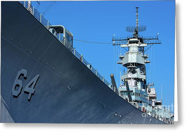 64 Battleship Wisconsin Greeting Card by Jerry Fornarotto