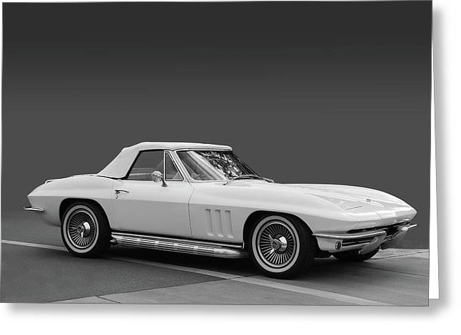 Irvine Greeting Cards - 65 Corvette Roadster Greeting Card by Bill Dutting