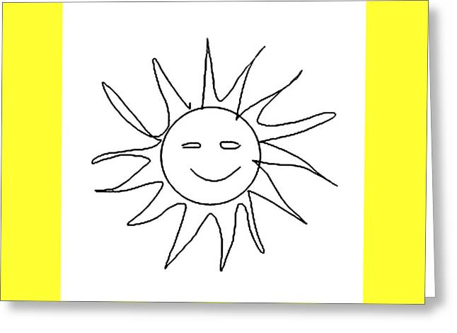 6.57.hungary-6-detail-sun-with-smile Greeting Card
