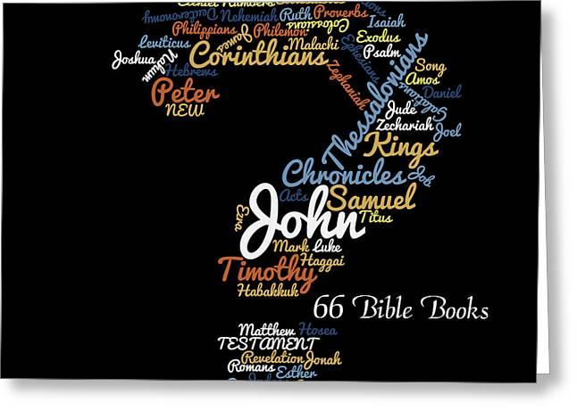 66 Bible Books Greeting Card