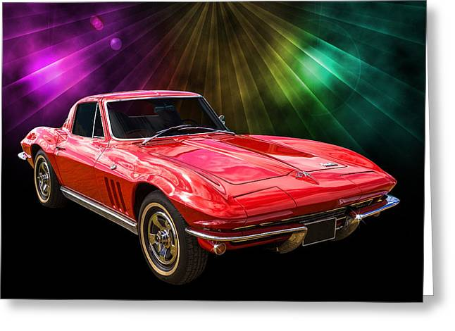 66 Corvette Greeting Card