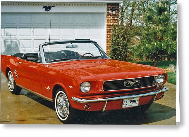 66 Mustang Convertable Greeting Card