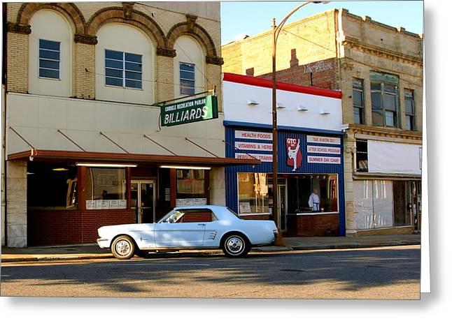 66 Mustang Down Town Greeting Card by Danny Jones