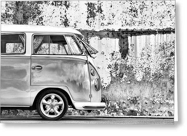 66 Splitty Monochrome Greeting Card by Tim Gainey