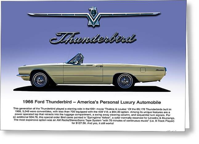 66 T-bird Display Piece Greeting Card by Douglas Pittman